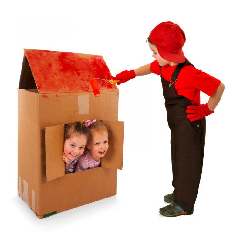 Tolle Ideen mit Kartons für den Gruppenraum