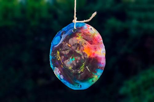 Bunter Sonnenfänger - Kreative Bastelidee für die Kita