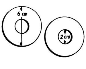 Pappvorlage für Pompons - groß