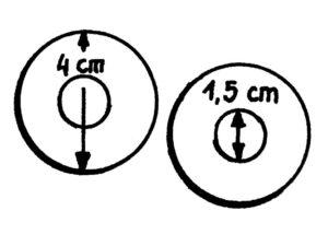 Pappvorlage für Pompons - klein
